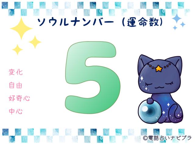 ソウルナンバー(運命数)5