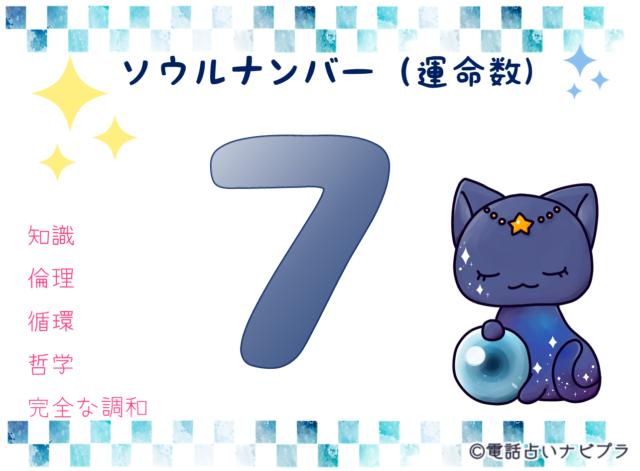 ソウルナンバー(運命数)7
