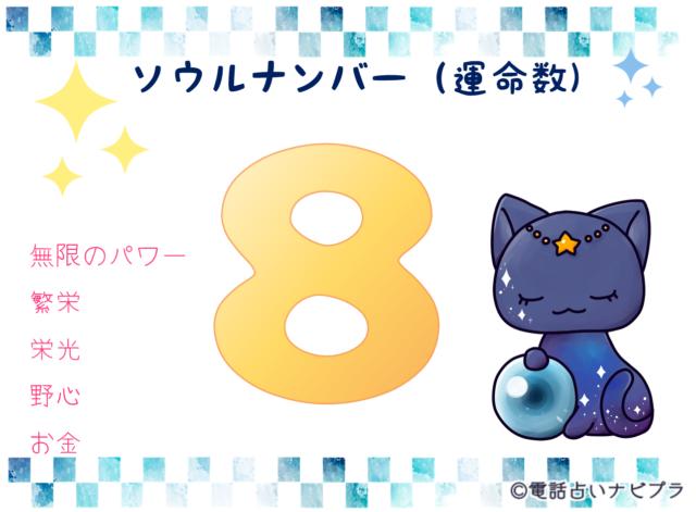 ソウルナンバー(運命数)8