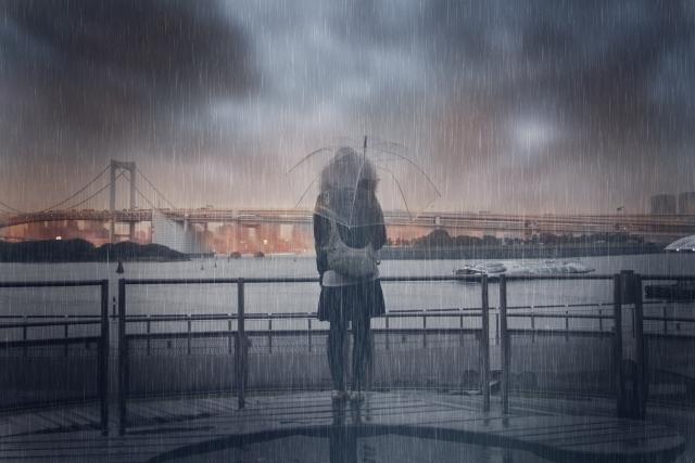 夢占い、雨に濡れる夢