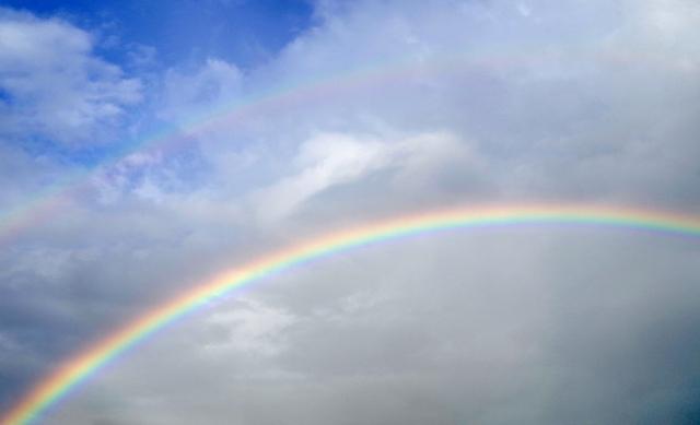 夢占い、降っていた雨が上がって虹がかかる夢占い