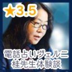 電話占いヴェルニ桂(かつら)先生体験談