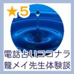電話占いココナラ龍メイ(りゅうめい)先生体験談