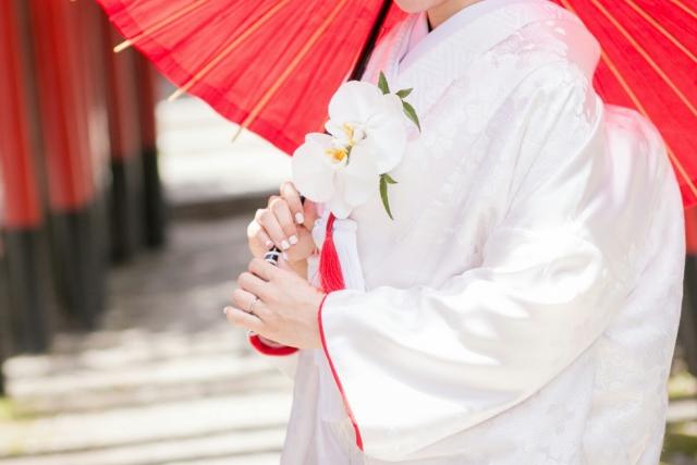 白無垢で結婚式を挙げる夢占い