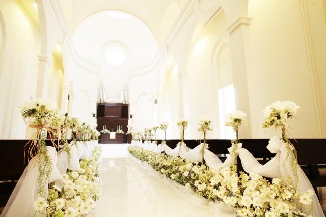 教会で結婚式を挙げる夢占い