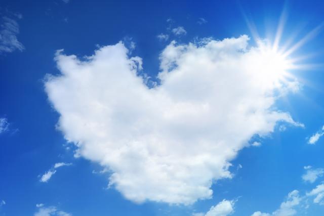 ハート形の雲の夢占い