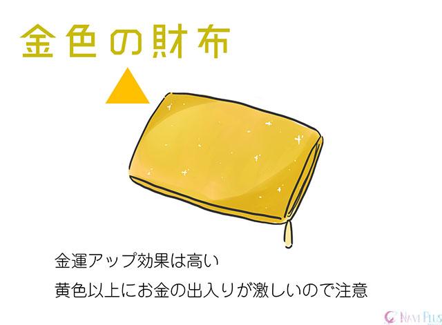 【風水・金運】金色の財布は黄色の財布以上に金運アップ効果が高い色でお金の出入りもかなり激しい