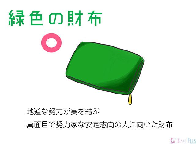 【風水・金運】緑色の財布は地道な努力が結ぶ色。真面目で努力家な安定志向の人に向いている