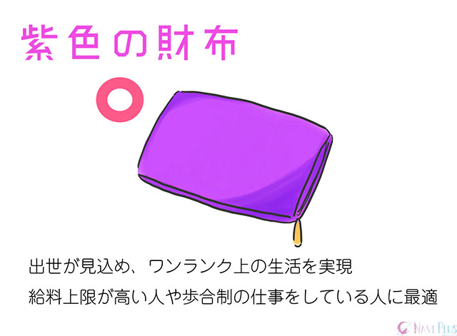 【風水・金運】紫色の財布は出世が見込める色でワンランク上の生活を実現する色