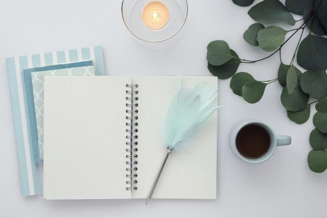 夜寝る前に日記を書く