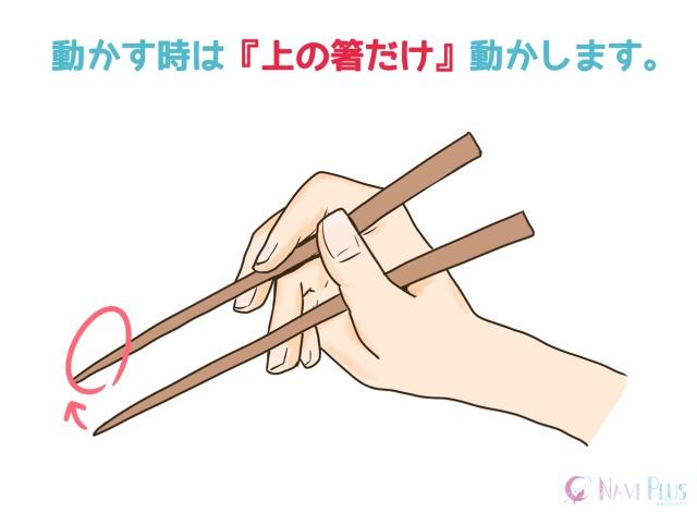 正しい箸の持ち方イラスト4