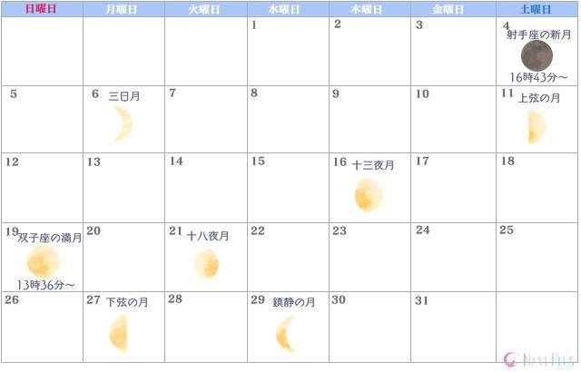 月のカレンダー【2021年12月】
