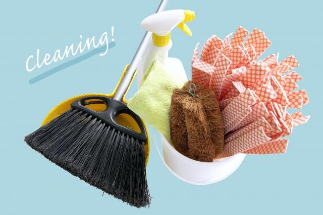掃除道具を用意する
