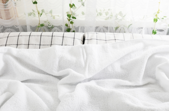 布類の洗濯がマメにされている