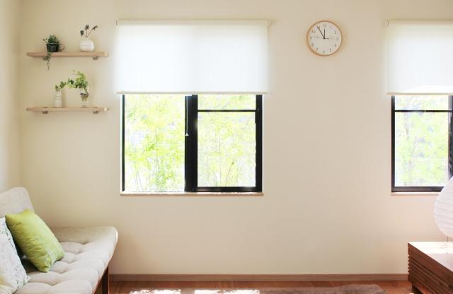 窓が磨かれており、太陽光が入る