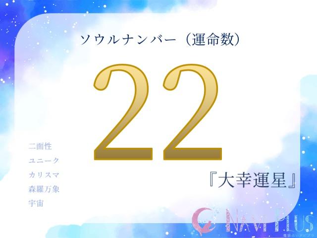 カバラ数秘術・ソウルナンバー(運命数)22